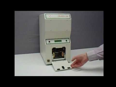 Video of the Verity Crunch 250 Hard Disk and Solid State Drive Data Destroyer Shredder
