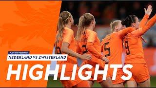 Highlights: OranjeLeeuwinnen - Zwitserland (09/11/2018)
