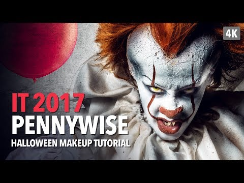 It 2017 - Pennywise Halloween Makeup Tutorial