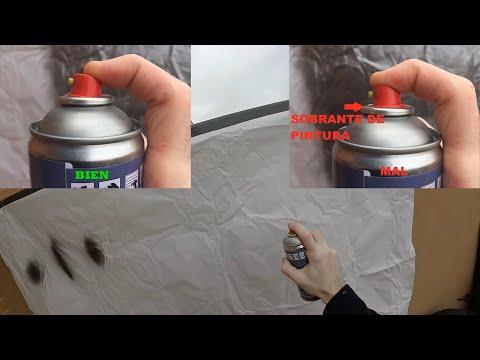 Como usar los spray de pintura