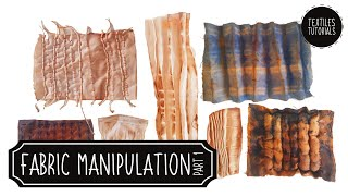 Fabric Manipulation With Stripes - Textiles Demonstrations - Part 1