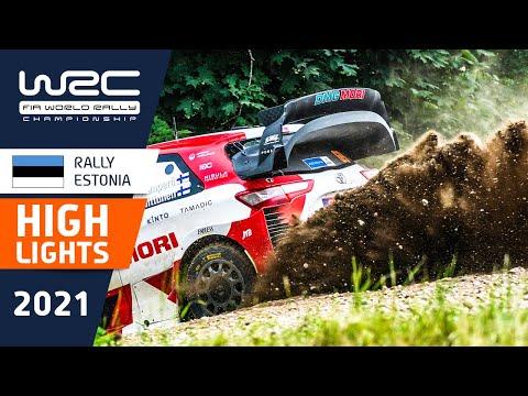 WRC 2021 第7戦ラリー・エストニア SS6-SS9のハイライト動画
