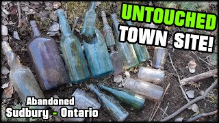 UNCOVERING LOST ANTIQUE BOTTLES!! FOUND 100 YEAR OLD TOWN SITE LOST TO TIME!! Sudbury Ontario Canada
