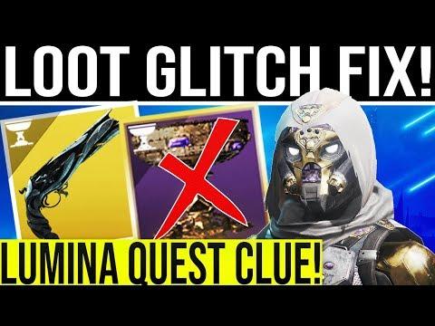 Destiny 2 News. CHEST GLITCH FIX! Lumina Exotic Hand Cannon Quest Clue, Exclusive Rewards & More!
