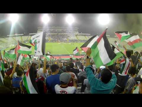 """""""Salida Palestino vs San Lorenzo (Los Baisanos)"""" Barra: Los Baisanos • Club: Club Deportivo Palestino"""