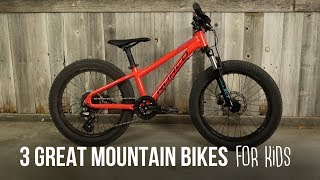3 Great Mountain Bikes For Kids!