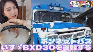 ボンネットバスいすゞBXD30を運転する【乗り物だいすき】