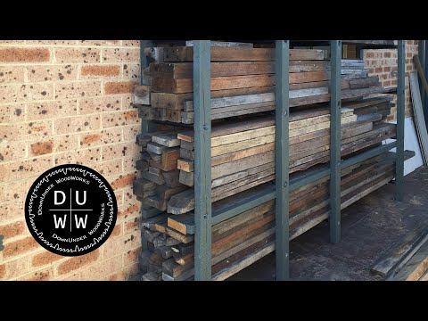 DIY Outdoor Lumber Rack for Tight Spaces, Part 1