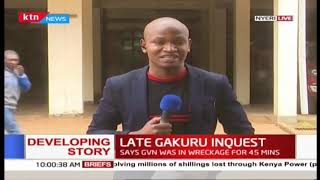 Developing: Late Nyeri Governor Inquest enters day 2 as driver grilled for hours on Thursday