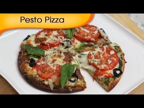 How To Make Pizza At Home – Pesto Pizza | Ruchi Bharani
