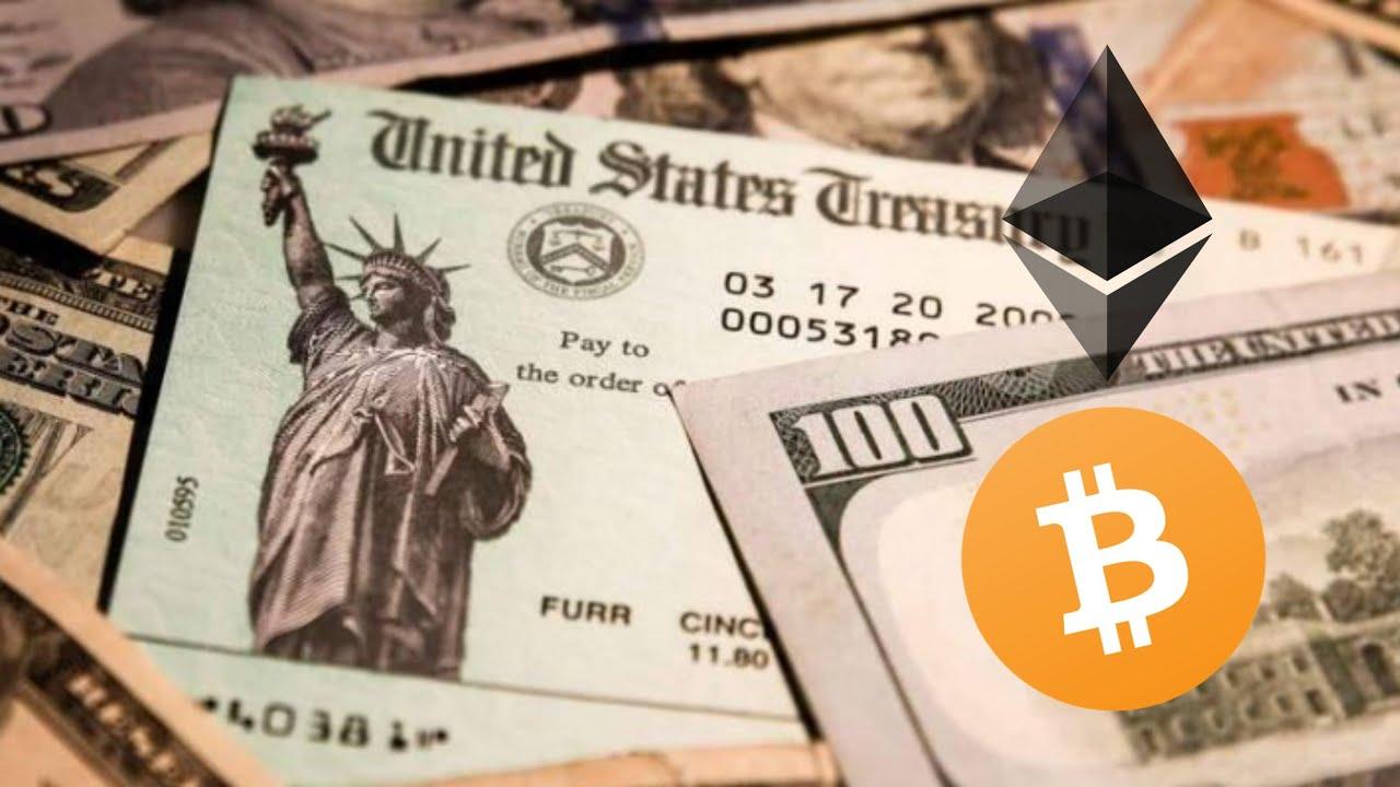 U.S.A. stimulus check Vs Bitcoin news on Bloomberg financing