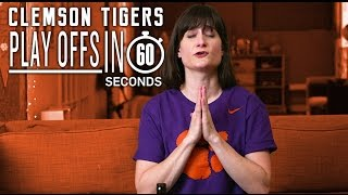 Clemson Tigers Fans    College Football Playoffs in 60 Seconds   Kholo.pk