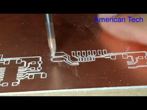 How To Make PCB Board Using CNC Machine , Fast And Easy