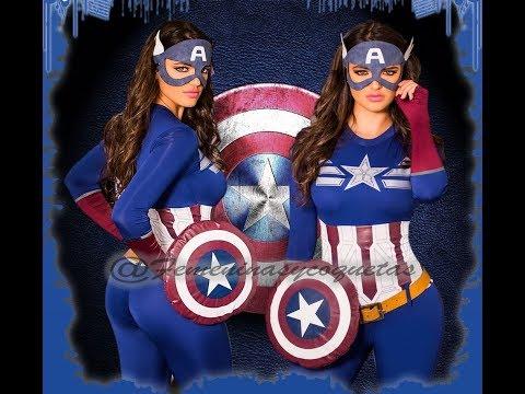 Disfraz capitán américa para mujer - Disfraz súper héroes mujeres