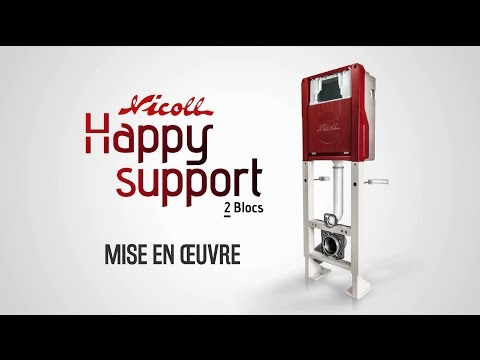 Installation du bâti Happy Support de Nicoll