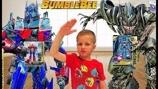 ТРАНСФОРМЕР БАМБЛБИ и ОПТИМУС! МЕГАТРОН В ЯРОСТИ! Распаковка. BumbleBee Transformers 6