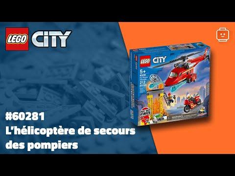 Vidéo LEGO City 60281 : L'hélicoptère de secours des pompiers