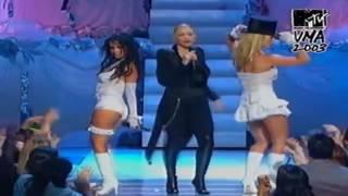 Britney Spears  Christina Aguilera  Madonna  Missy Elliot Opening Medley At MTV VMA 2003 {PmV