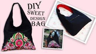 DIY NEW TREND TOTE BAG // Vintage Cute Handbag Tutorial Easy to Sew