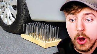 Car Vs 1000 Nails!
