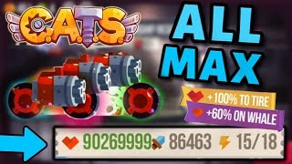 Maxing HEALTH on a FULLY MAXED MACHINE C.A.T.S - MAX HP Crash Arena Turbo Stars