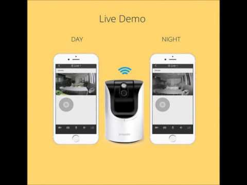 Zmodo 1.0 Megapixel 1280 x 720 Pan & Tilt Smart Wireless IP Network Security Camera Easy Remote Acce