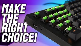 How To Choose The Right Mechanical Keyboard Switch For YOU