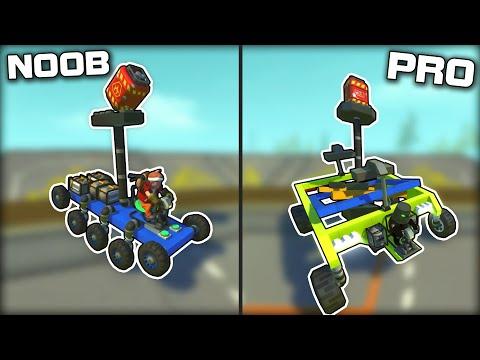 NOOB vs PRO Explosive Balancing Challenge! (Scrap Mechanic Gameplay)