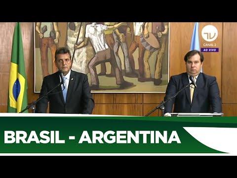 Coletiva Rodrigo Maia e Sérgio Massa, presidente da Câmara da Argentina | 04/03/20