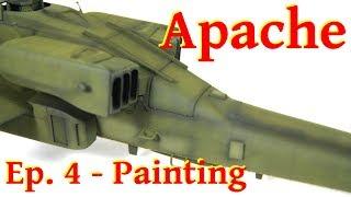 Model Apache Longbow AH-64D - 1/48 Italeri - Painting