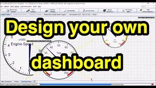 How to use Dashboard Designer in TunerStudio (BASIC)