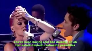P!nk Feat Nate Ruess   Just Give Me A Reason  Lyrics English Spanish Sub Español
