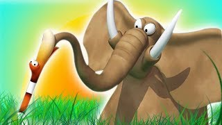 Газун мультик на русском - Неудачное приземление Приключения слона и его друзей Мультики для детей