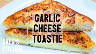 GARLIC BREAD CHEESE TOASTED SANDWICH - Food For Stoners - Gregs Kitchen