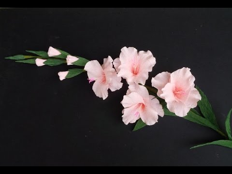 Abc Tv How To Make Gladiolus Flower From Crepe Paper Craft Tutorial Abc Tv