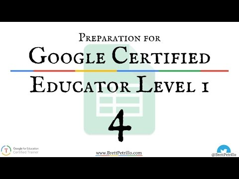 Google Certified Educator Prep Session 4: Sheets - YouTube