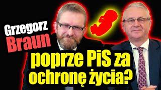 Cena Grzegorza Brauna: wybory za ochronę życia Grzegorz Braun
