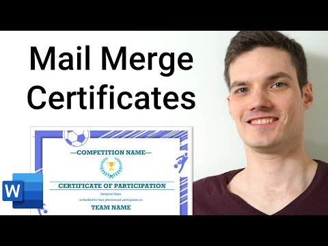 How to Mail Merge Certificates - Office 365 - YouTube