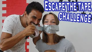 Escape The Tape Escape Challenge (Duct Tape) | Liza And Maykel