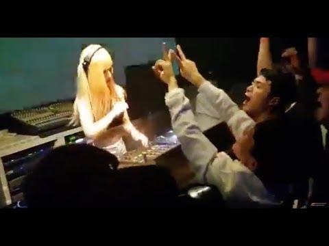 DJ Black Cat (Korea) performing in Korean nightclub (Raw Footage)