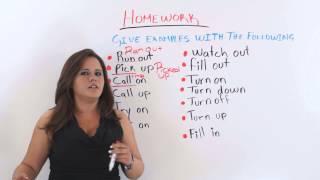 Phrasal Verbs AND Two-Word Verbs - English Grammar