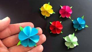 Basteln mit Papier: Blume als Geschenk selber machen 🌸 Origami 🌸 DIY Bastelideen Muttertag