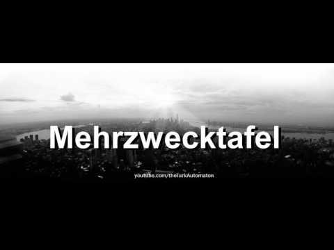 How to pronounce Mehrzwecktafel in German