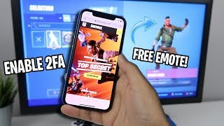 How to ENABLE 2FA FORTNITE (EASY METHOD) (FREE EMOTE)