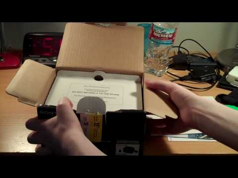 Sony Handycam DCR SR68 Unboxing