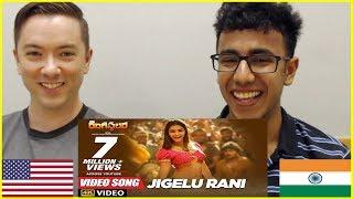 Jigelu Rani American & Indian Reaction   Ram Charan   Pooja Hegde