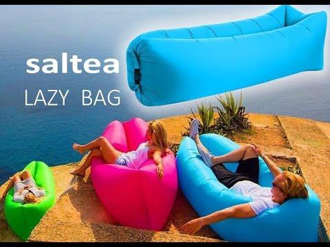 Saltea Gonflabila tip Sezlong Lazy Bag pentru Plaja sau Casa