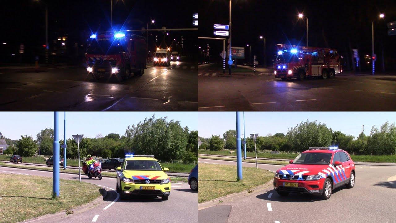 Brandweer Haaglanden & OVDG met spoed naar een Zeer grote brand&Grote brand in Den Haag & Zoetermeer