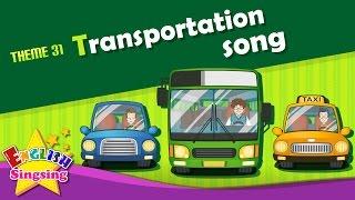 Theme 31. Giao thông vận tải bài hát - xe buýt xe taxi - Các bánh xe trên xe buýt