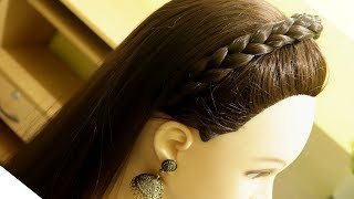 Beautiful & Simple Head Band Hairstyle For Beginners   Head Band Loose Hair Hairstyle    Hairstyle